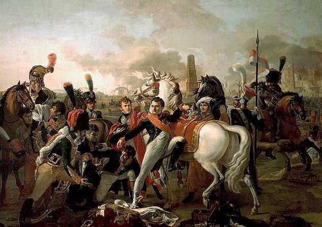 La bataille de Ratisbonne (Pierre Gautherot) - Avril 1809; Napoléon y fut blessé au pied.